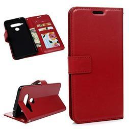 LG V40 ThinQ Case, LG V40 Case Wallet Flip Simple Lines Desi