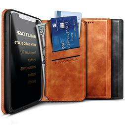For LG Stylo 6 Leather Wallet Phone Case Cover Magnetic Flip