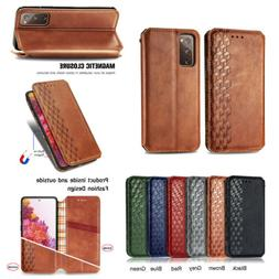 Luxury Leather Flip Card Wallet Phone Case Cover For Samsung
