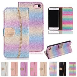 Luxury Leather Glitter Wallet Magnetic Flip Phone Case Cover