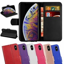 Luxury Leather Magnetic Wallet Phone Flip Case for iPhone XR