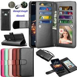 Luxury Leather Wallet Case Flip Holder Card Stand Protective