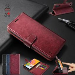Luxury Premium Phone Case Flip Leather Wallet Cover RFID Blo