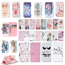 Magnetic Flip Wallet Card Pattern Stand Case Cover For iPhon