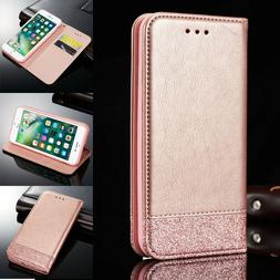 Magnetic Leather Flip Wallet Phone Case Cover For Apple  iPh