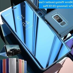 Mirror Flip Case Smart Stand Cover for Samsung Galaxy Note 1