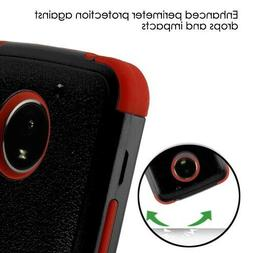 For Motorola Moto E4 PLUS Leather Flip Wallet Phone Case Cov