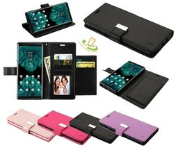 For ALCATEL Revvlry Leather Wallet Flip Fold Phone Case Card