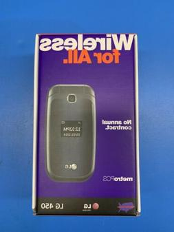 LG MS450 - Black  Cellular GSM Flip  Phone
