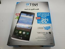"""NET 10 WIRELESS LG Destiny 4.5"""" 4G WIFI Phone - Black - New"""