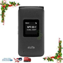 New & Sealed - Verizon Wireless Prepaid eTalk Flip Phone Gra