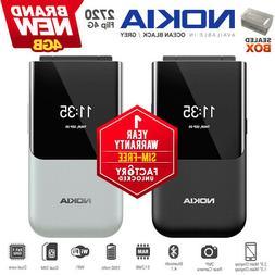 New & Unlocked NOKIA 2720 4G Flip Black/Grey KaiOS Dual SIM