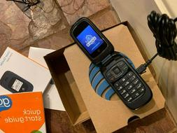 new! AT&T Go Phone ZTE Z222 Flip Cell Phone small 3G bluetoo