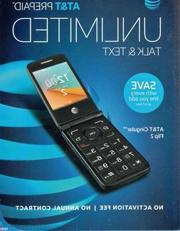 New Alcatel Cingular Flip 2 OT-4044O AT&T Unlocked 4G lte Wi