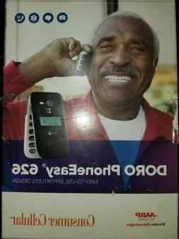 NEW DORO PHONEEASY 626 CONSUMER CELLULAR - BLACK FLIP PHONE