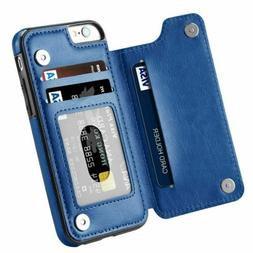 New Leather Flip Wallet Folio Phone Case Cover For Apple iPh