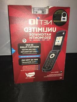 NEW Motorola Moto W408G - Silver  Prepaid Basic Flip Cell Ph