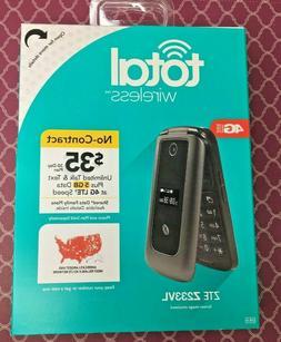New Total Wireless Alcatel My Flip MyFlip ZTE Z233VL Prepaid