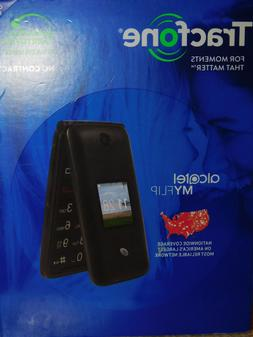 New TracFone Alcatel MYFLIP A405DL Prepaid Flip Phone + 1 Ye