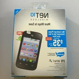 NEW ZTE Whirl 2 32GB Tracfone Net10 Wireless Black Android S