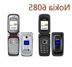 Original Nokia 6085 Black Mobile Phone 2G GSM Unlocked Flip