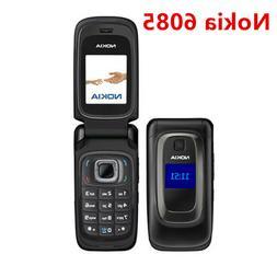 Original Nokia 6085 Flip Black 2G GSM Unlocked Flip Cellphon