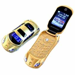 Newmind F15 Unlocked Flip Phone Dual Sim Mini Sports Car Mod