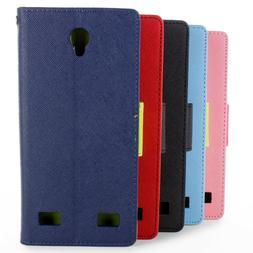 Protective Wallet Flip Pouch Kickstand Tough Phone Cover Cas