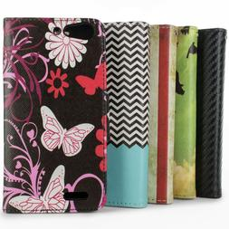 Protective Wallet Pouch Flip Stand Design Phone Cover Case f