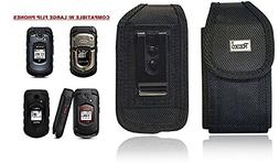 Reiko Vertical Canvas Case, Rugged Pouch Holster Metal Clip