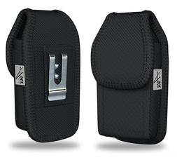 Rugged Vertical Belt Clip Case Pouch Holster for Alcatel Jit