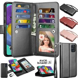 For Samsung Galaxy A51 A71 4G Card Leather Wallet Flip Holde