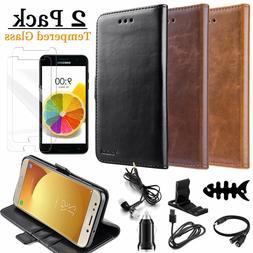 Samsung Galaxy J3 Phone PU Leather Wallet Case Flip Card Hol