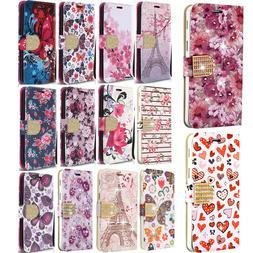 For Samsung Galaxy J3 2018 Premium Leather Wallet Case Pouch