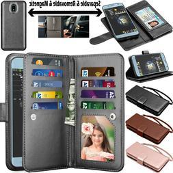 For Samsung Galaxy J7 Star/Crown/Aura Flip Leather Card Wall