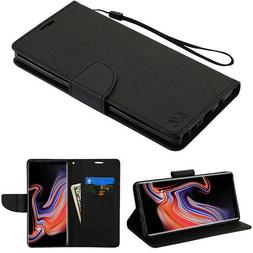 For Samsung GALAXY Note 9 Leather Folio Flip Wallet Phone Ca