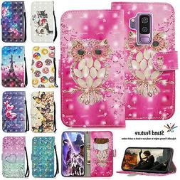 For Samsung Galaxy S10+ S10e Pattern Leather Wallet Flip Car