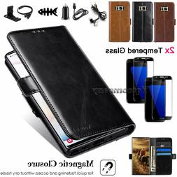 For Samsung Galaxy S7 Edge Phone Case Leather Card Wallet Fl