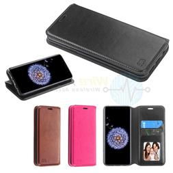 Samsung GALAXY S9 Plus Leather Flip Wallet Stand Pouch Card