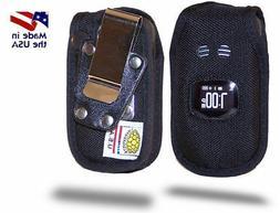 Turtleback Sanyo TAHO Flip Phone Black Nylon Case with Metal