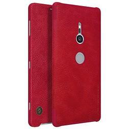 Sony Xperia XZ2 Case,Mangix Flip PU Leather Wallet Smart Sle