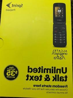 Sprint Alcatel  OneTouch Retro Flip Phone no contract prepai