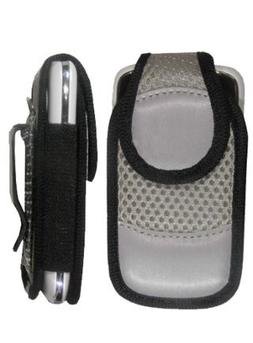 Silver Swivel Pouch with Magnetic Flap for LG 450 lg450 450