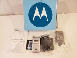 Motorola T720 Flip Phone - Nextel - open box- silver