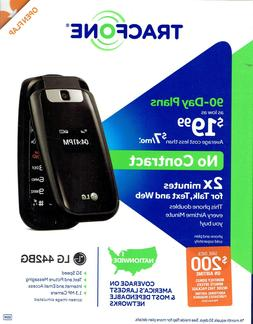 Tracfone Lg L442BG 3G Prepaid No Contract Flip Phone, Double