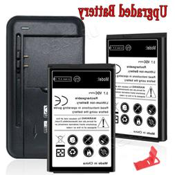 New 1850mAh Replacement Battery & Wall Charger for LG 440G L