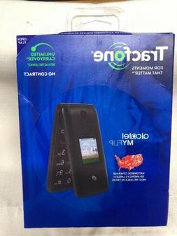 Tracfone Alcatel My Flip MyFlip A405 Prepaid Basic Cell Phon