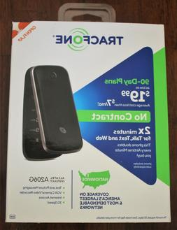 Tracfone No Contract Alcatel Onetouch A206G Flip Cell Phone