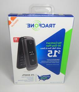 Tracfone ZTE Z232TL 4G LTE Prepaid Flip Phone - Black