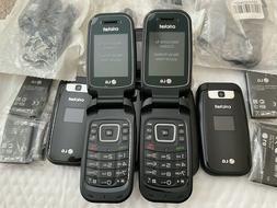 LG TRUE B460 Black GSM UNLOCKED Flip Phone Good Services